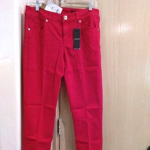 Cache 5-Pocket Skinny Pants RED - Size 8